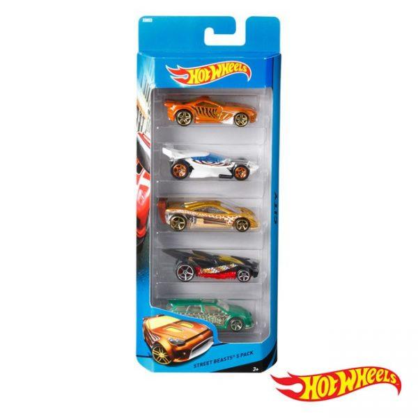 Hot Wheels – Pack de 5 Veículos
