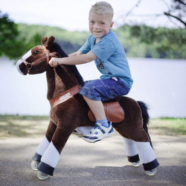 PonyCycle Cavalo Castanho Chocolate 3-6 anos