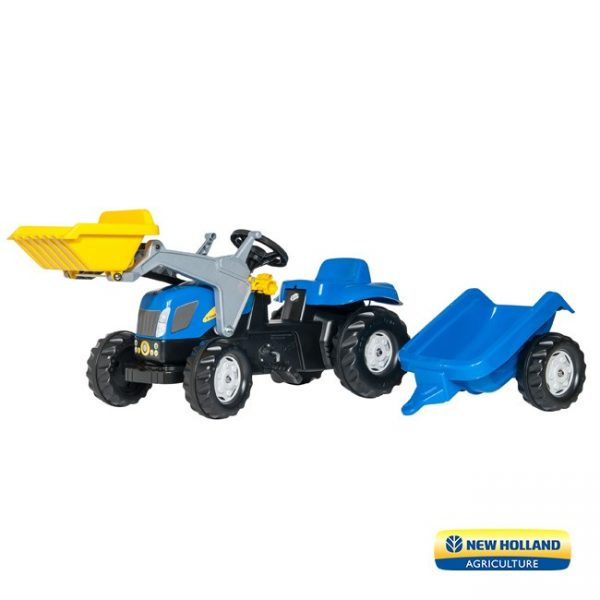 Trator New Holland T7040 + Reboque + Pá
