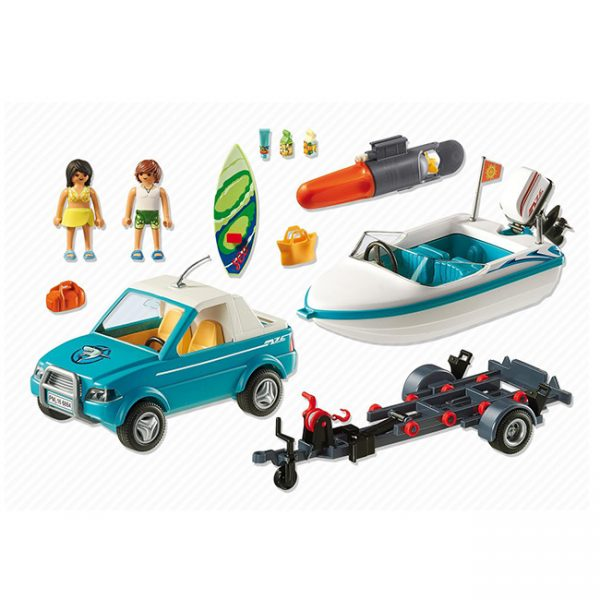 Playmobil Pick-Up com Barco