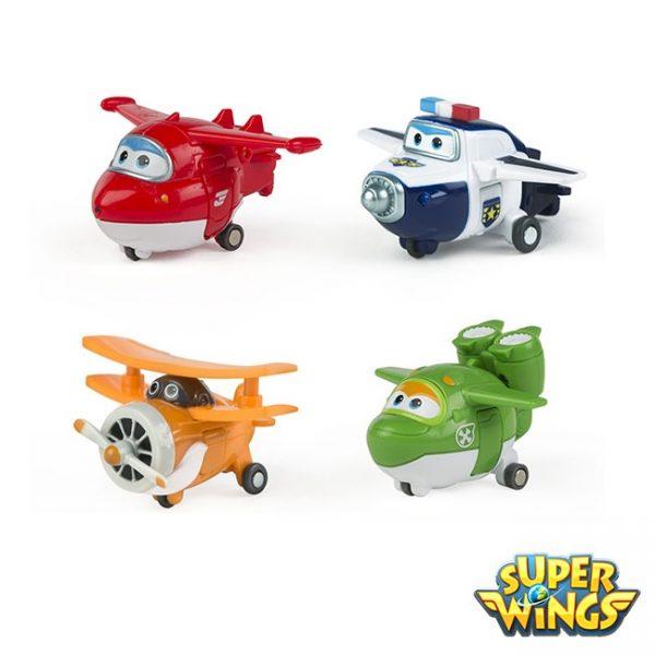 Super Wings – Pack 4 Figuras Transformáveis