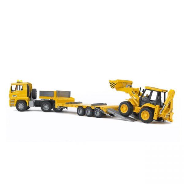 Camião MAN TGA c/ Zorra e Escavadora
