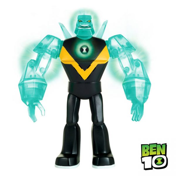 Ben 10 – Figura Power Up Luz e Sons Diamondhead