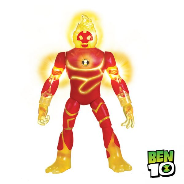 Ben 10 – Figura Power Up Luz e Sons Heatblast