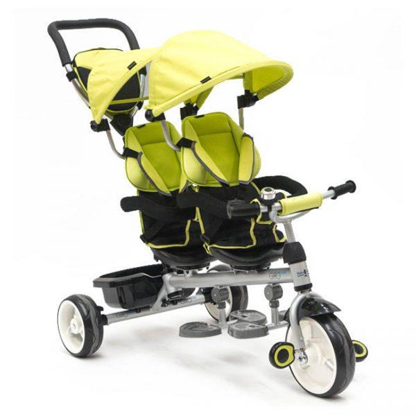 Triciclo Gémeos c/ Assentos Giratórios Twin Green