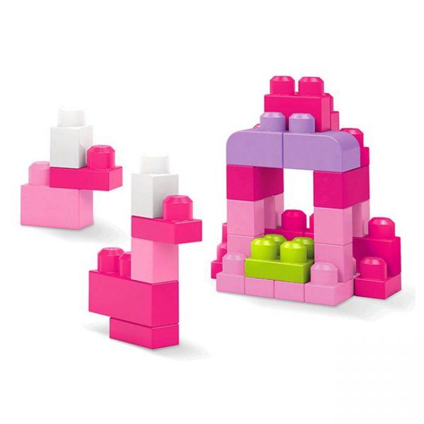 Mega Bloks Bolsa 60 Peças Rosa