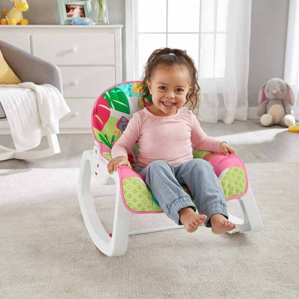 Cadeira Descanso Cresce Comigo Rosa Fisher-Price