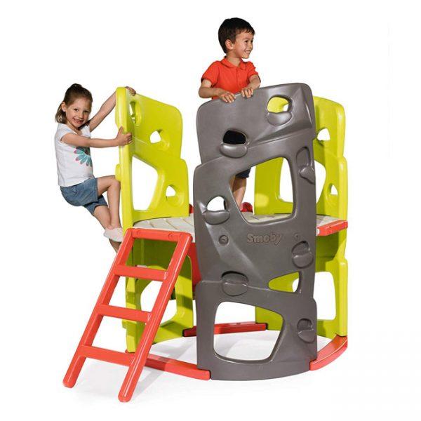Torre de Escalada com Escorrega Smoby