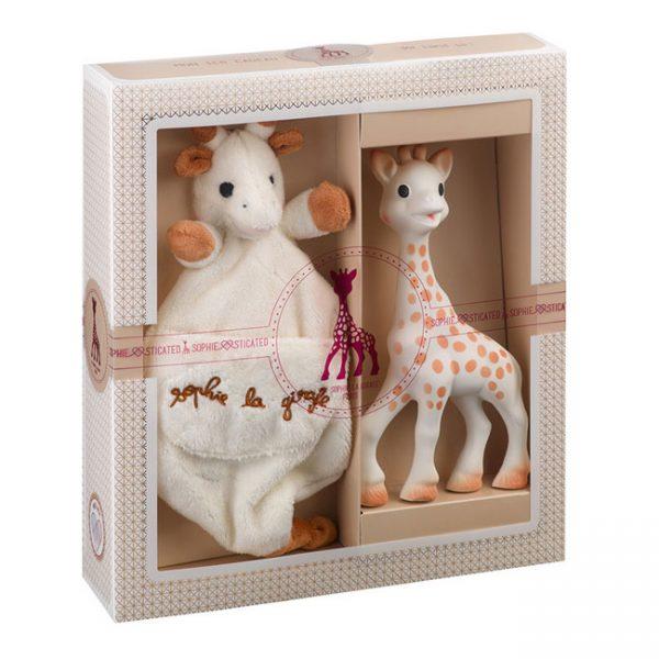 Girafa Sofia e DouDou c/ Pega para Chupeta