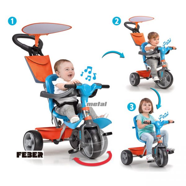 Triciclo Baby Plus Music Blue