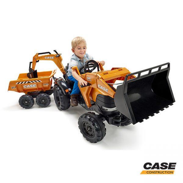 Escavadora Case + Reboque + Pás