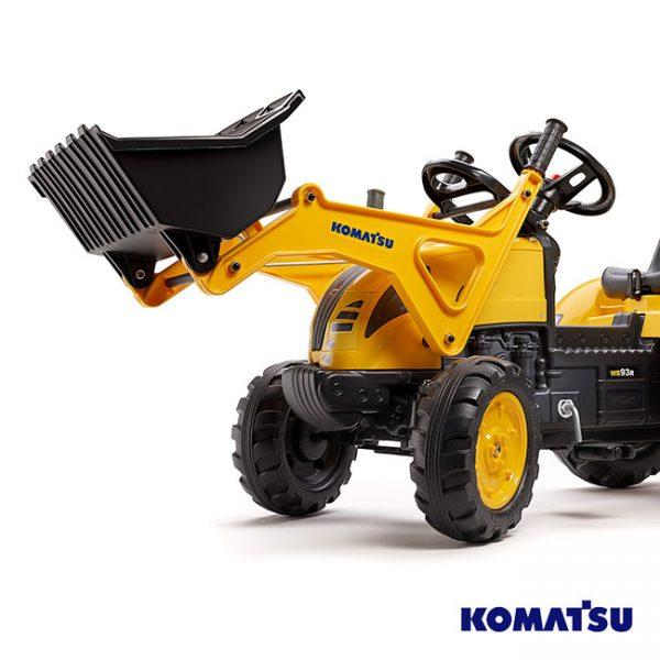 Escavadora Komatsu WB93R + Reboque + Pás