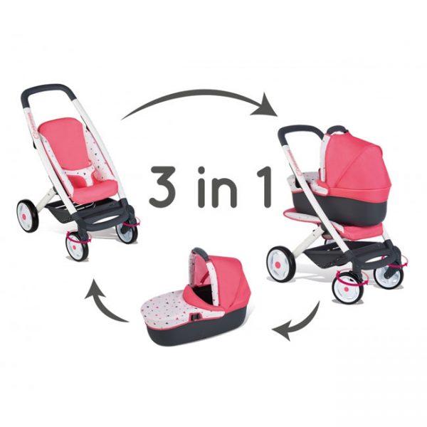 Carrinho de Bonecas Bebé Confort 3 em 1