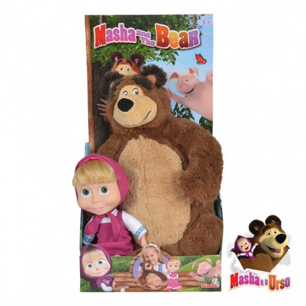 Masha e o Urso – Boneca Masha 23cm e Peluche Urso 43cm