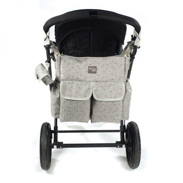 Bolsa Walking Mum Confeti Grey