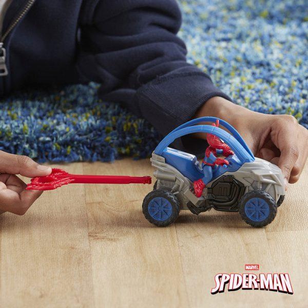 Spider-Man Figura e Veículo Azul