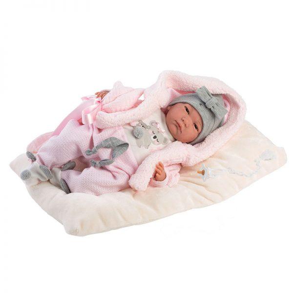 Bebé Reborn c/ Gorro Cinza