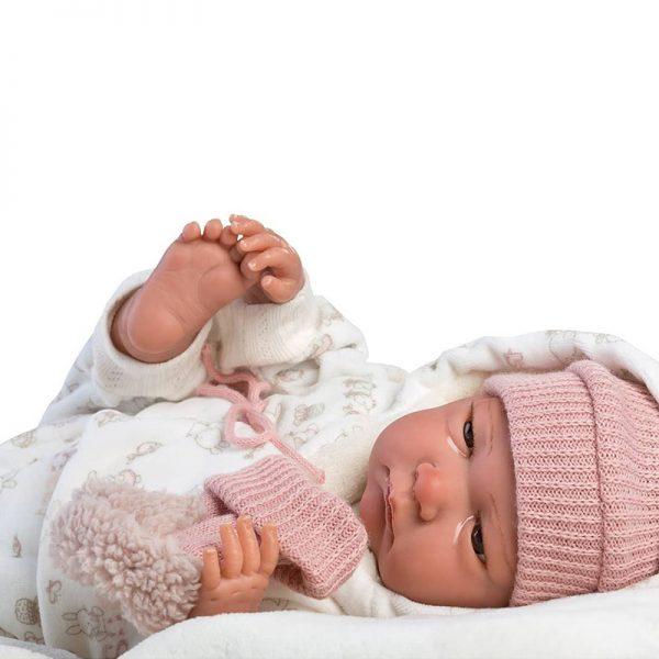 Bebé Reborn c/ Gorro Rosa