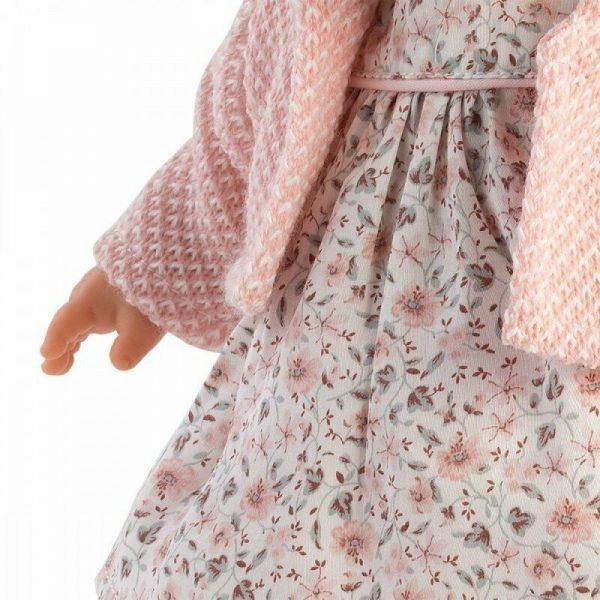 Boneca Roberta Chorona Vestido Florido