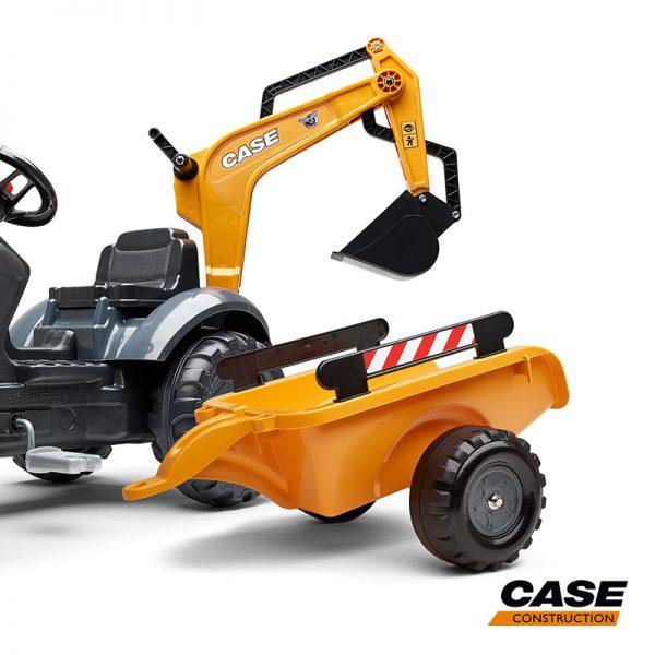 Escavadora Case 580 Super N + Reboque + Pás