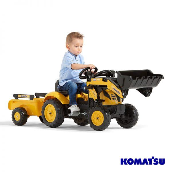 Escavadora Komatsu Small + Reboque + Pá