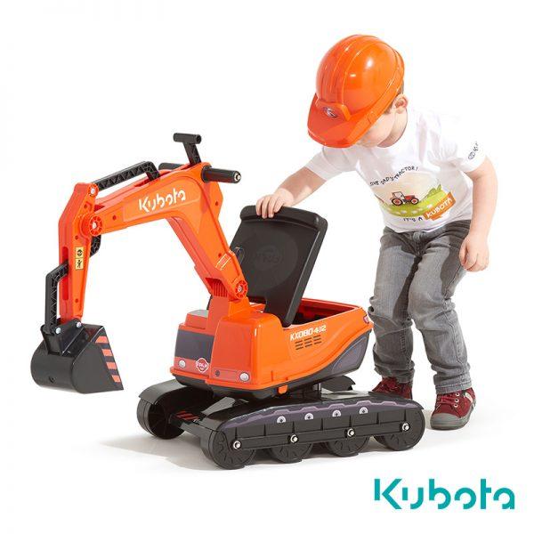 Escavadora Kubota + Capacete