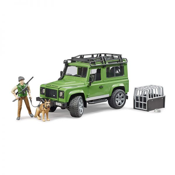 Jipe Land Rover Defender Station Wagon c/ Figuras