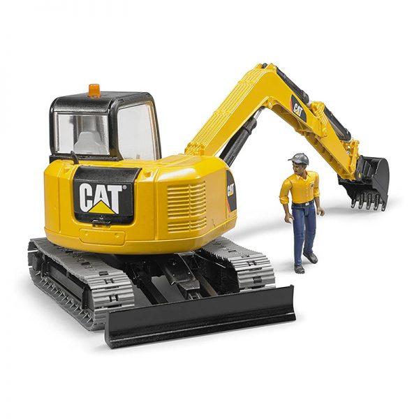 Mini Escavadora CAT c/ Figura