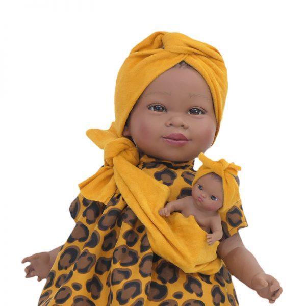 Boneca Maria Mulata c/ Bebé – Amarelo