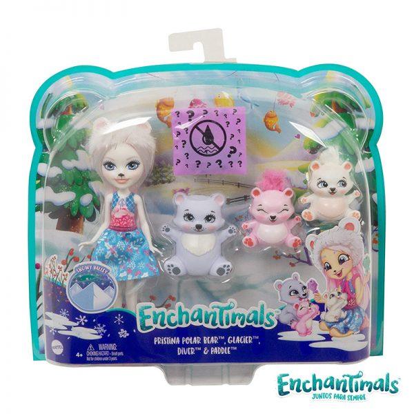 Enchantimals Pristina Família Urso Polar