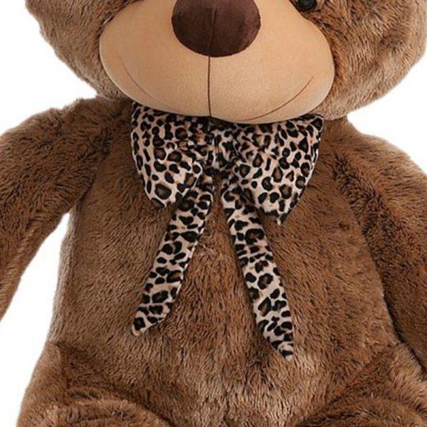 Ursinho Peluche Laço Leopardo 130cm