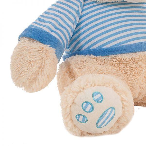 Ursinho Peluche Camisola Azul 80cm