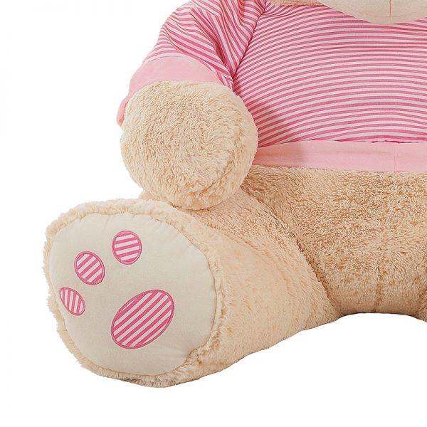 Ursinho Peluche Camisola Rosa 80cm