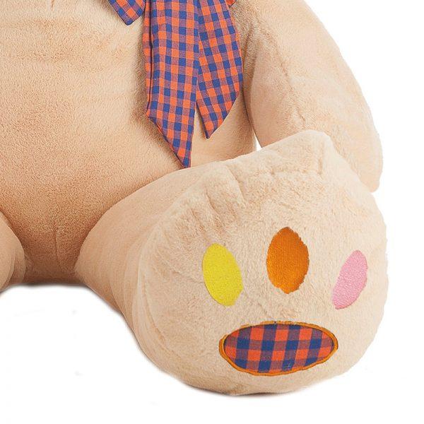 Urso Peluche Pegada Colorida 130cm