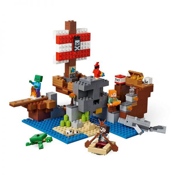 LEGO Minecraft – Aventura do Barco Pirata