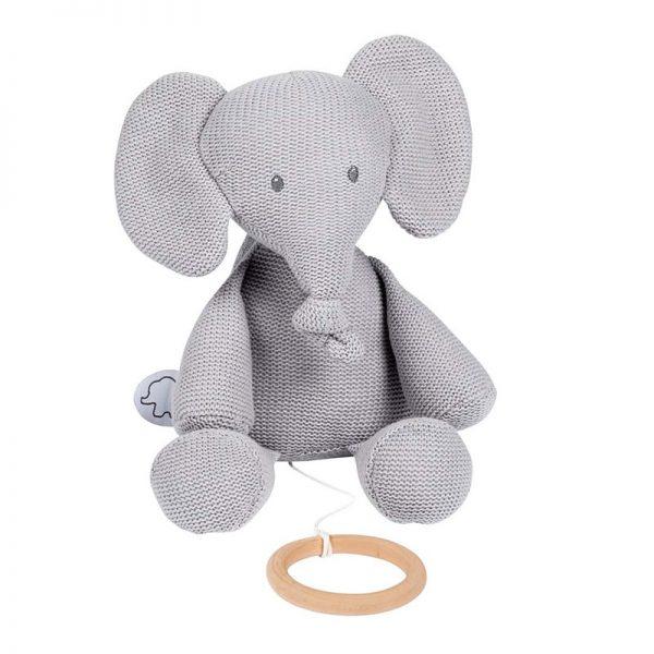 Peluche Tricot Nattou Elefante Tembo c/ Melodia