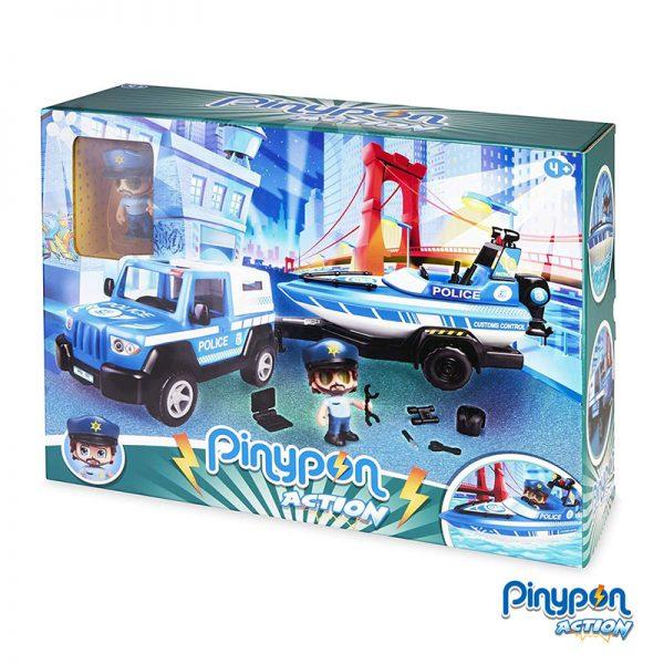 Pinypon Action Barco da Polícia e Pick Up