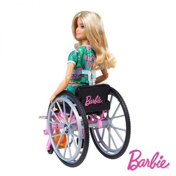 Barbie Fashionistas Loira em Cadeira de Rodas
