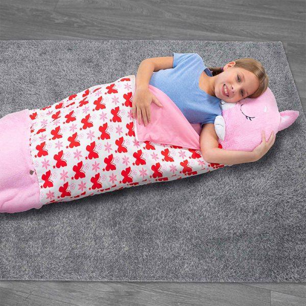 Dormi Locos Saco Cama Médio Gato Rosa