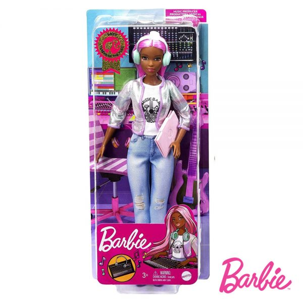 Barbie Produtora Musical Cabelo Rosa