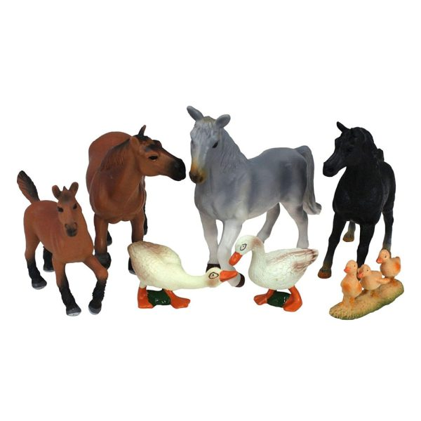 Pack 7 Figuras de Animais da Zona Rural